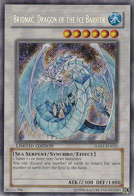 Yugioh Brionac Dragon of the Ice Barrier